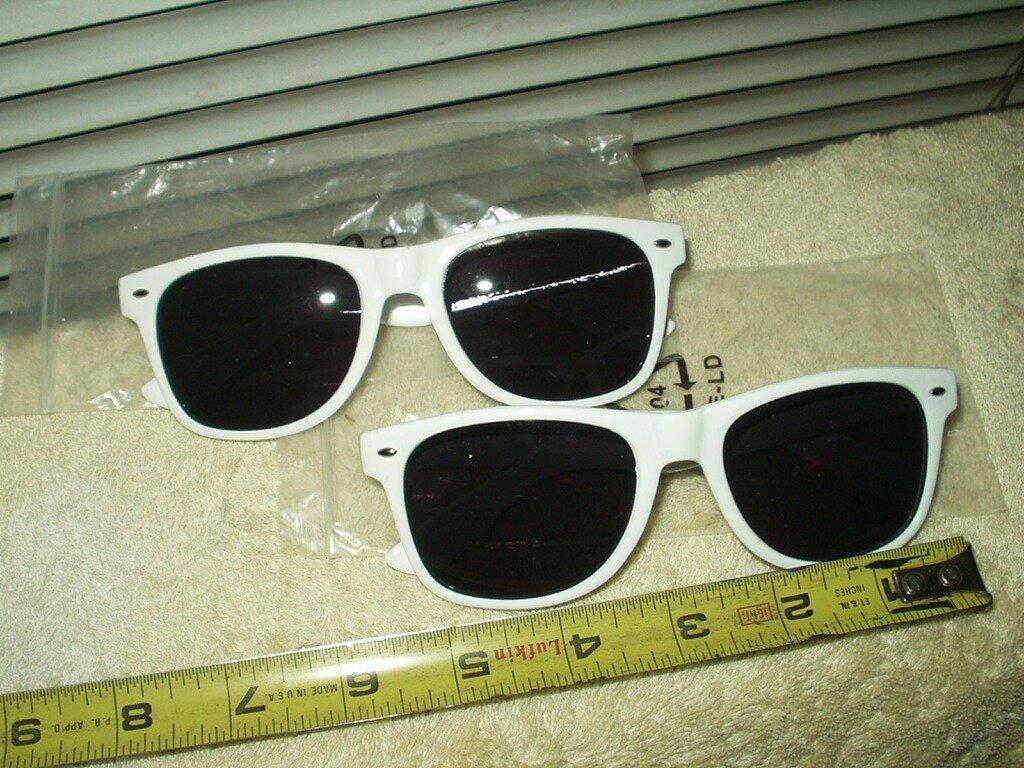 belvedere vodka sunglasses unisex lot of 2 each white