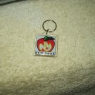 vintage new york ny big apple keychain