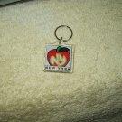 vintage new york ny big apple keychain