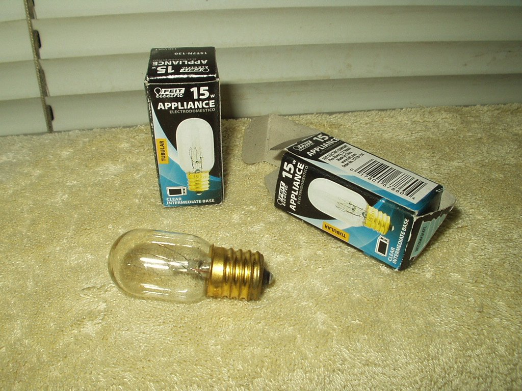 15 watt appliance bulb feit electric tubular clear intermediate base lot of 2 #15t7n-130