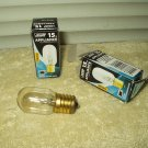 15 watt appliance bulb feit electric tubular clear intermediate base lot of 2 #15t7n-130
