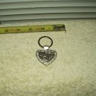 san franciso golden gate bridge key ring heart shaped metal w/ stones trolley