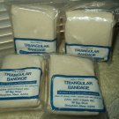 "triangular bandage muslim blend 40"" x 40"" x 56"" non-sterile w/pins lot of 4"