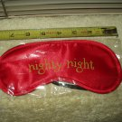 sleep mask eye cover by groovi red colored nighty night older stock