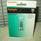 Sylvania quartz halogen 50 watt bulb 12 volt bi-pin gy6.35 base 1 each sealed