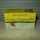 bigelow cozy chamomile flowers herbal tea sealed box of 20 bags best by 02/22