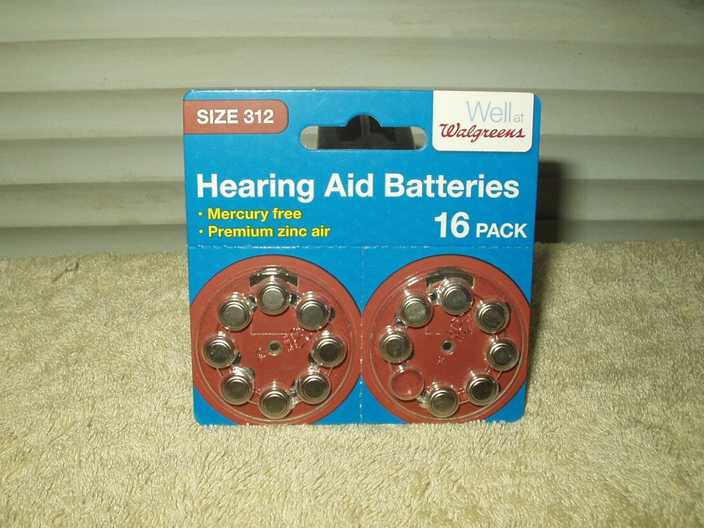 size 312 hearing aid batteries 1.45 volts 15 each wallgreens brand #173619 exp 10/2022