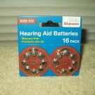 size 312 hearing aid batteries 1.45 volts 15 each wallgreens brand #173619 exp 10/2022
