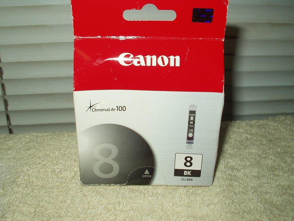 canon oem chromalife 100 sealed  black ink cartridge CLI-8BK lot of 1