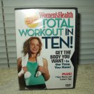 dvd women's health total workout in ten! minutes cardio,upper & lower body abs