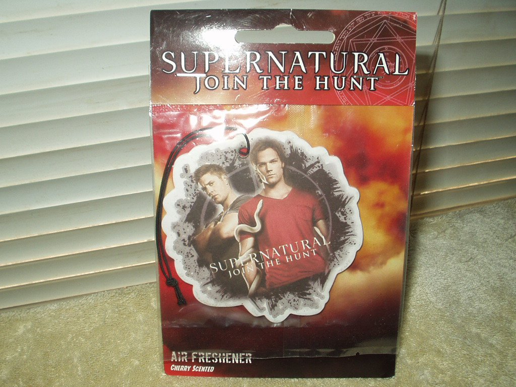 supernatural join the hunt hanging air freshener cherry scented warner bros.