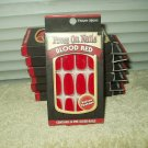 fright night blood red velvet texture press on nails 1 box of 24 per order