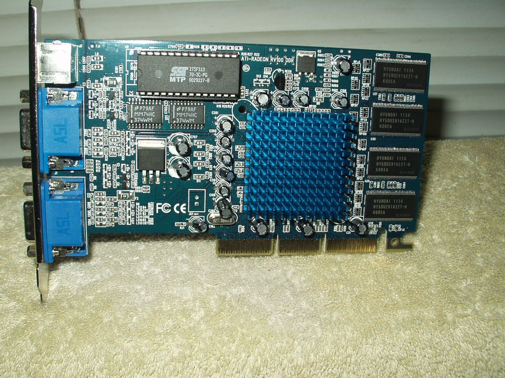 ati-radeon rv100 ddr graphics card only