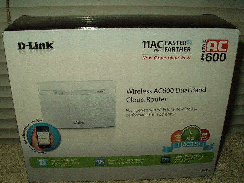 d-link wireless ac600 dual band cloud router 11ac wi-fi # dir-808l windows & mac