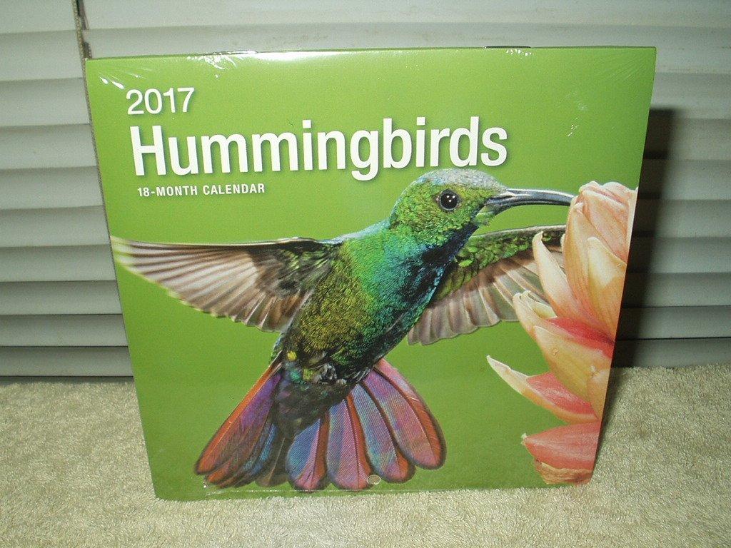 hummingbirds calendar year 2017 18-month wall type sealed