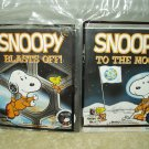 mcdonalds nasa peanuts snoopy blast off & to the moon books 2 & 3 sealed lot of 2