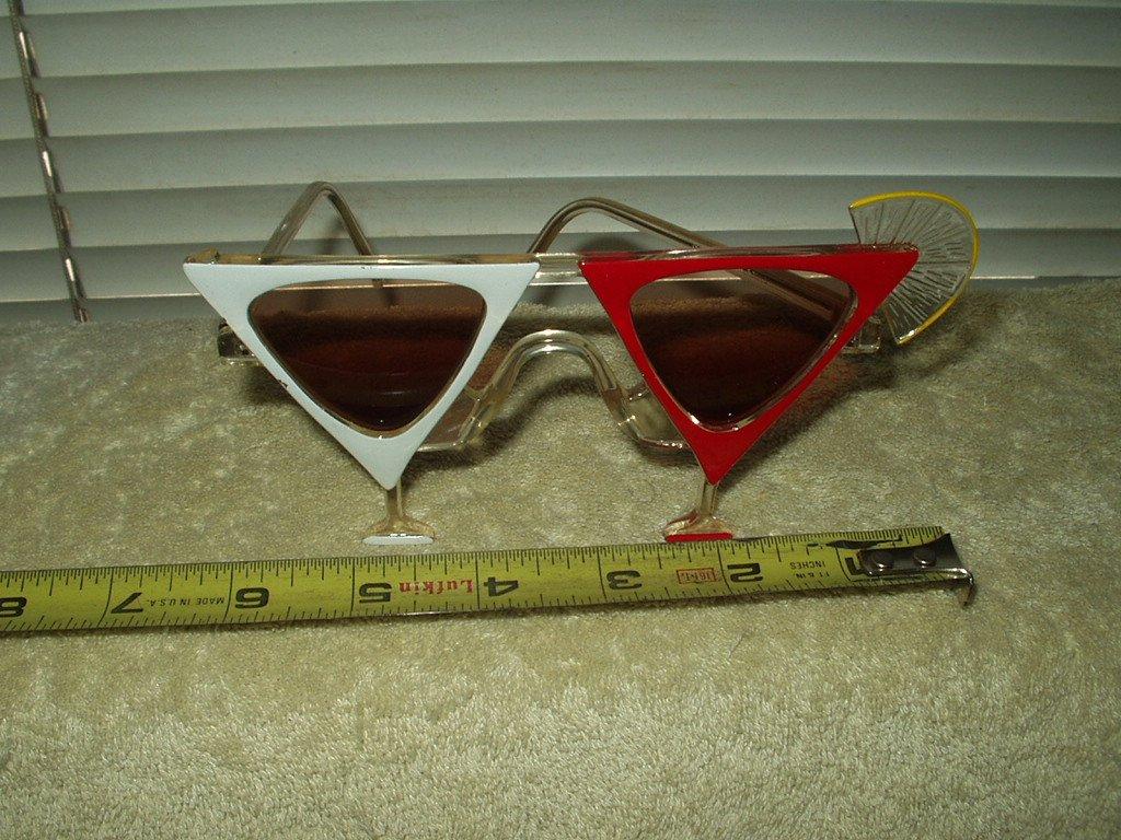 vtg 1980's martini cocktail glass sunglasses italian design 57015 imperfect
