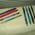 used pens pentel energel & rsvp rt-zebra-uni jetstream-studio art & bic pencils