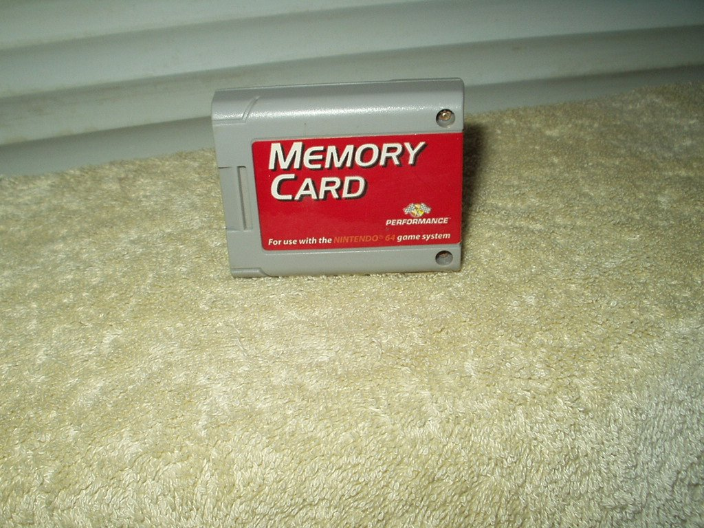 performance nintendo memory card for n64 # p-302