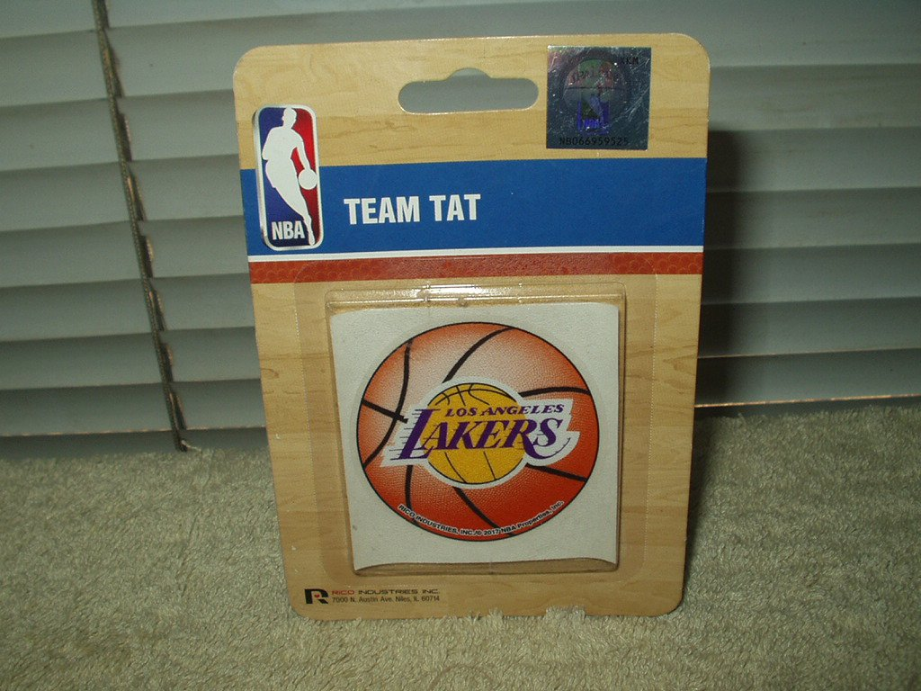 los angeles lakers temporary tatoo official nba team tat 1 each