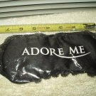 adore me satin sleep mask eye cover black colored laced trim sealed