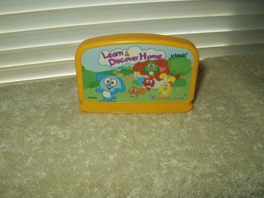 VTECH VSMILE BABY LEARN & DISCOVER HOME CARTRIDGE #099000
