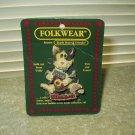 vtg folkwear pin brooch what bird ? cat #26429 boyds bears & friends 1995
