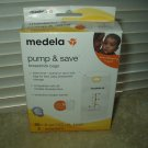 medela pump & save breastmilk bags 20 each & 2 adapters # 87233