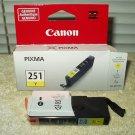 cannon pixma 251 yellow ink cartridge 7ml chromalife 100+ oem
