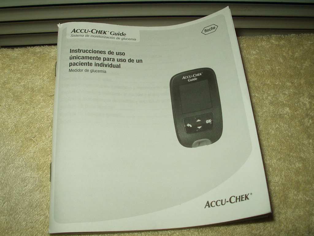 accu-chek guide users manual  only in  spanish