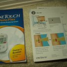 "one touch verio flex meter ""manual only"" w/ guide insert in english"