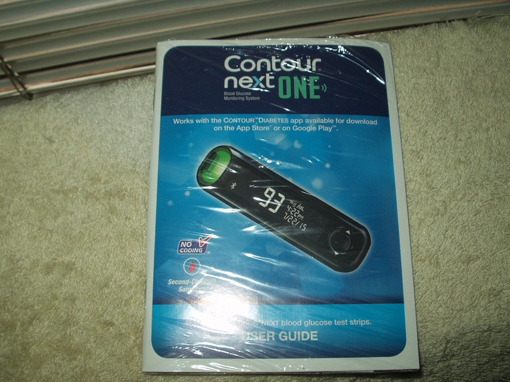 bayer ascensia contour next one no meter manual & quick guide only in english