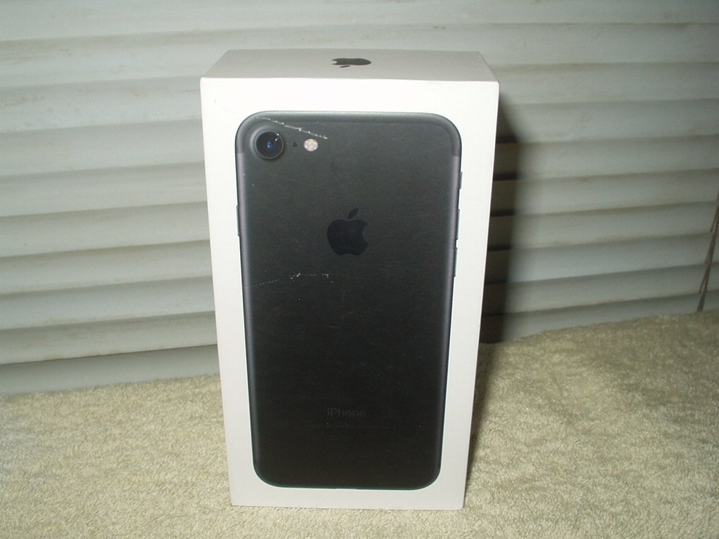 apple iphone 7 black 256gb empty box only