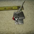 snoopy & woodstock decorated metal  doghouse xmas ornament letter a