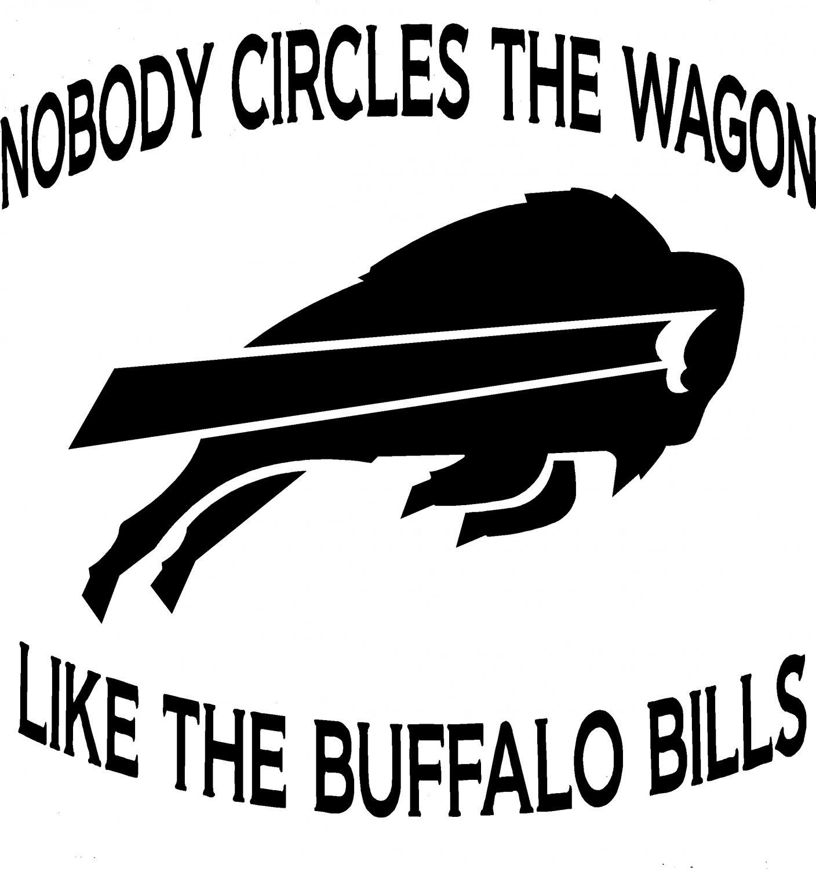 buffalo bills nfl circle the wagon vinyl decal sticker