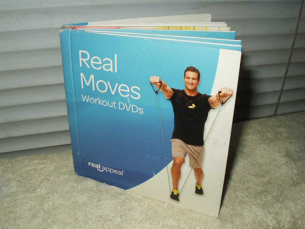 real moves workout dvd's set of 6 cardio strength excercise training