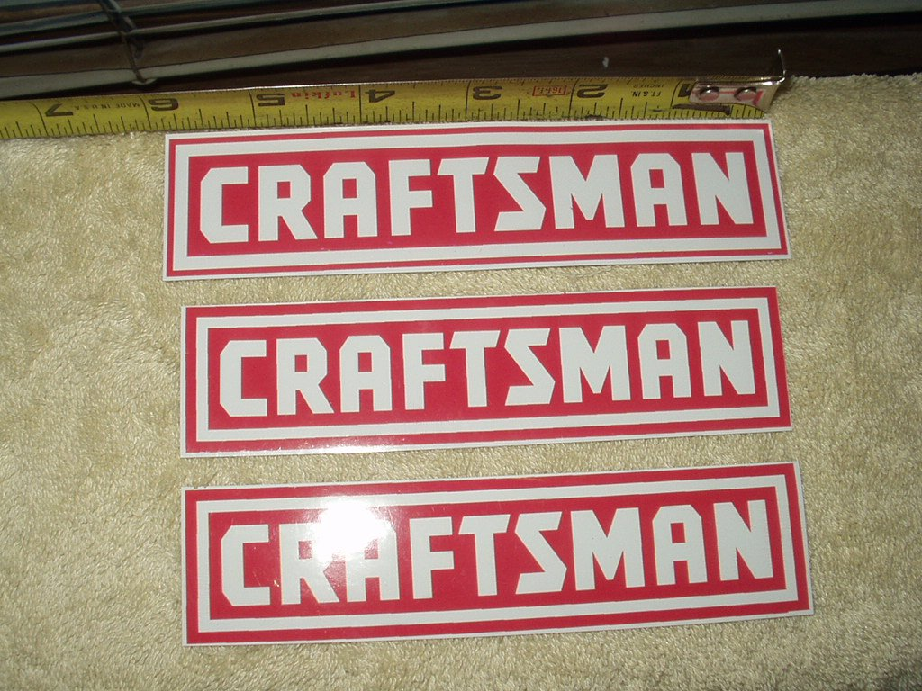 craftsman tools set of 3 full color vinyl stickers imperfect