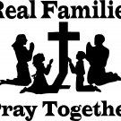 praying christian family together vinyl decal sticker