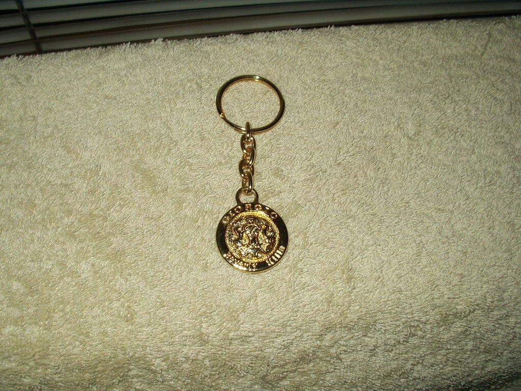 vtg giorgio of beverly hills keyring keychain goldtone