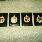 "i love ny pin approx 7/8"" round lot of 4 each"