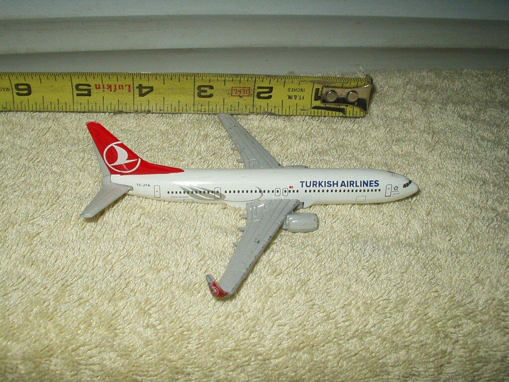 "turkish airlines model diecast airplane 5"" 100% metal"