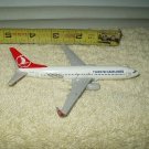 "turkish airlines model diecast airplane 5"" 100% metal"