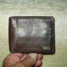 fossil bi-fold brown leather wallet for men