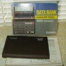 casio pf-7000 data bank telephone number memos calculator vintage 1980's