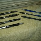 used pens (4) & mechanical pencils (3) sharpie papermate pentel signo bic lot 7