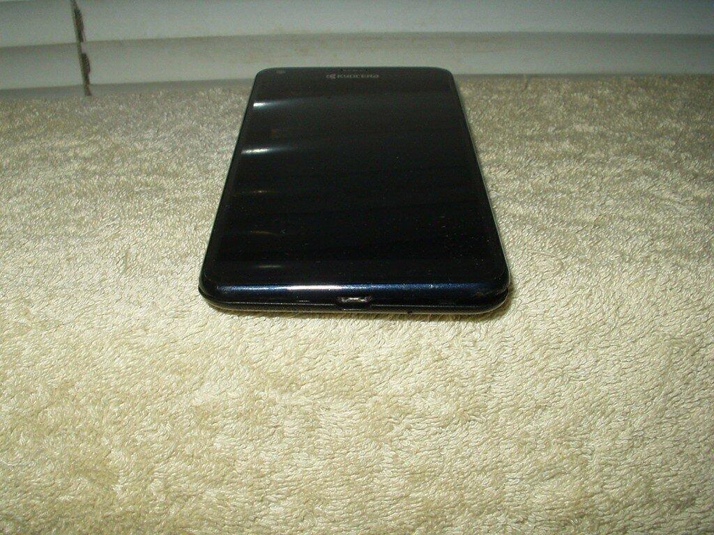 kyocera hydro reach c6743 sprint 4g smartphone cracked screen dark navy blue