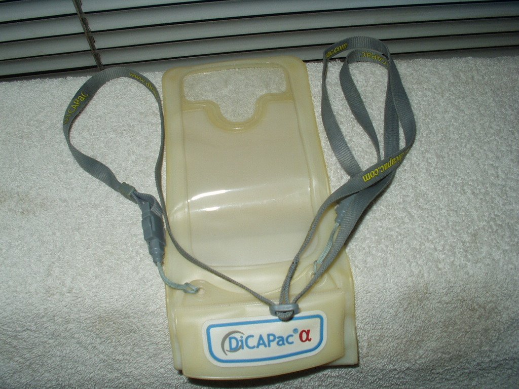 dicapac # wp-c1 protective case for smartphones w/ strap white