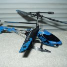 Sky Rover Stalker Gyro Helicopter only Blue 8+ inch indoor # yw856611