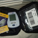 bd logic glucose meter, case &  spanish english manuals uses nova max strips