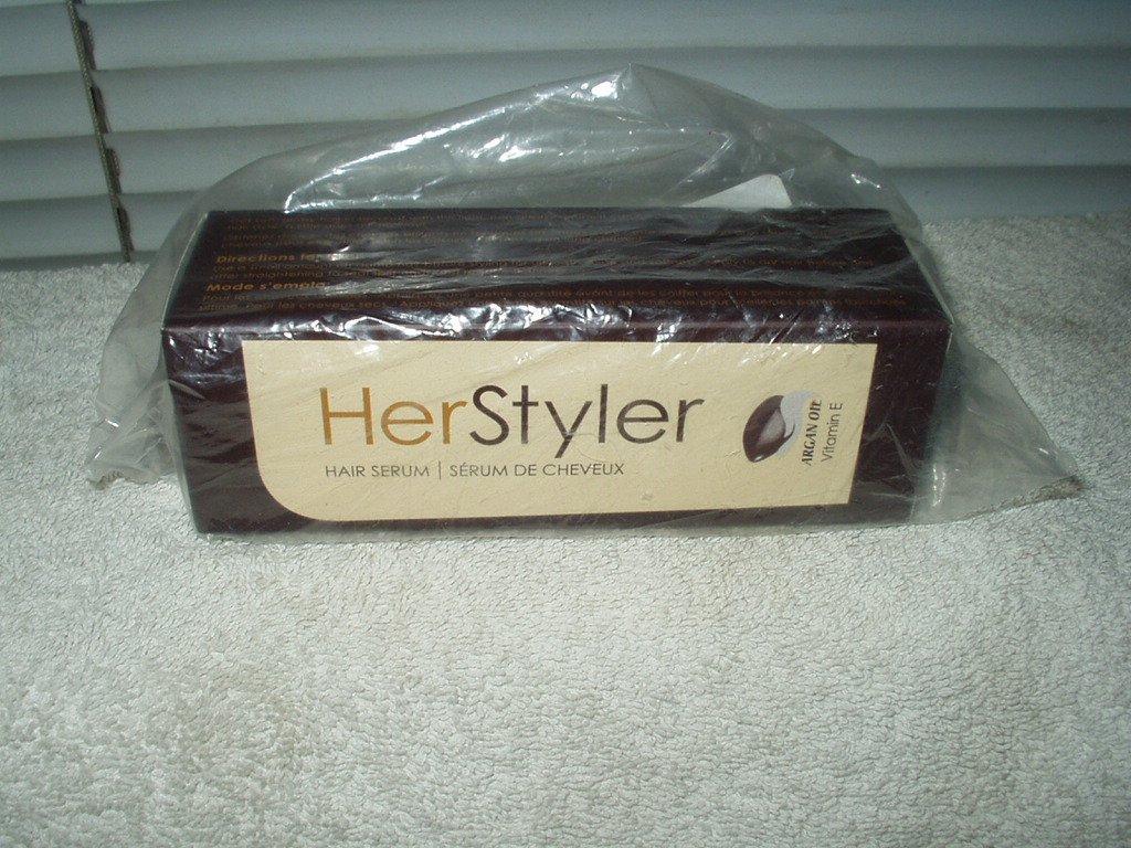 her styler hair serum w/ argon oil & aloe vera sealed package 60ml 2 oz